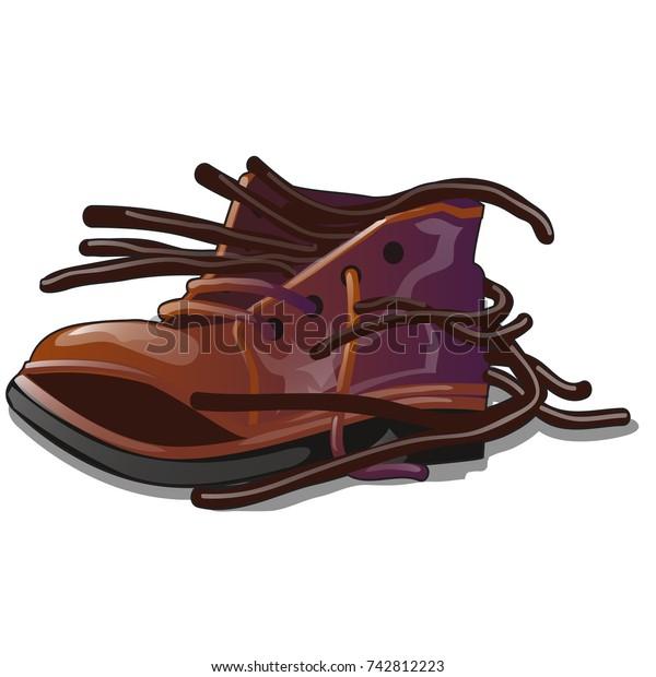 Vector De Stock Libre De Regalías Sobre Old Brown Shoe