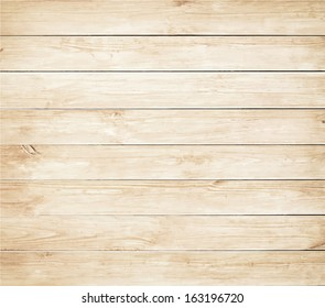 Old brown wooden planks texture. Vector wood background