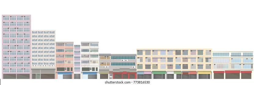 old building illustration