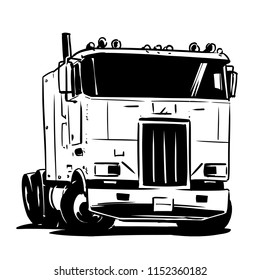Old Cabover Truck illustration