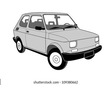 Old car Fiat 126 P