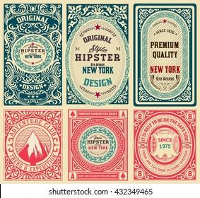 Old cards set with floral details.