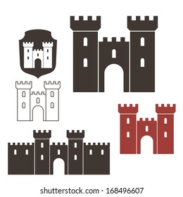 Old castle. Vector illustration EPS10
