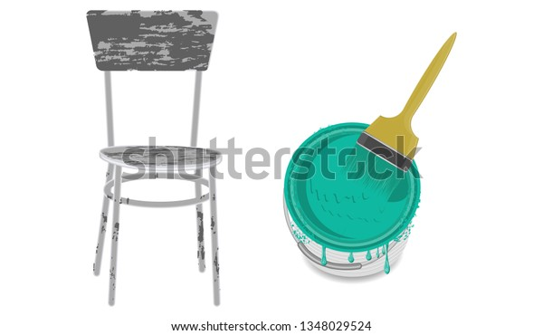 Cool Old Chair Grunge Style Can Paint Signs Symbols Interiors Lamtechconsult Wood Chair Design Ideas Lamtechconsultcom