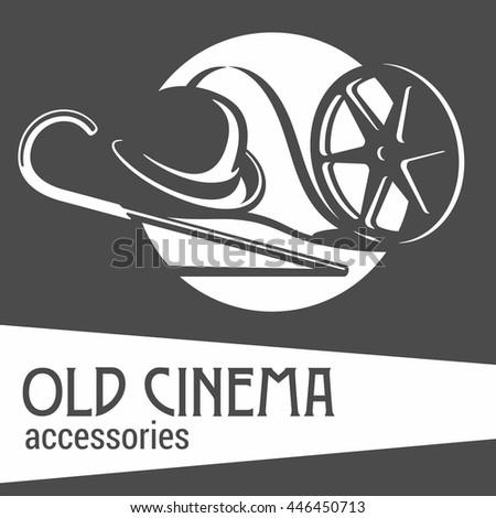 Old cinema accessories Black