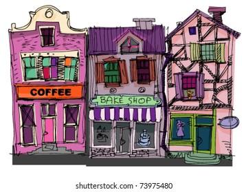 old city facades