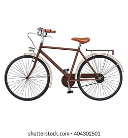 Old classic bicycle. Vector Illustration