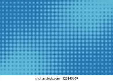 Old comic blue background with halftone gradient in pop art retro style.
