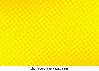 Old comic yellow background with halftone gradient in pop art retro style.