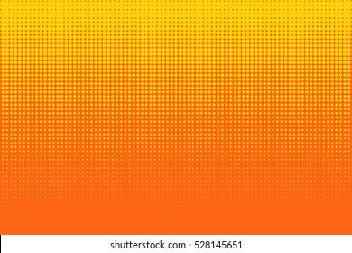 Old comic yellow orange background with halftone gradient in pop art retro style.