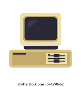 OLD Computer PC Vector