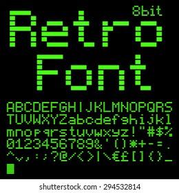 Retro Computer Font Images Stock Photos Vectors Shutterstock