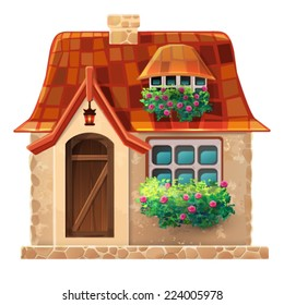 Old cottage. Vector. Eps 10.