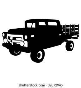 old country car, vector illustration
