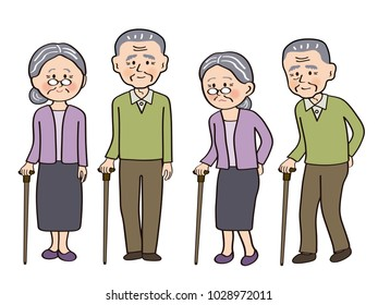 An old couple and stick