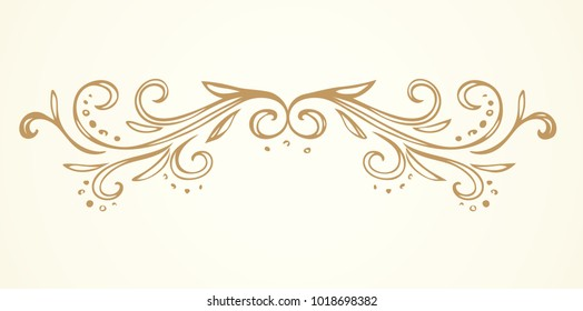 Old cute romantic book ribbon bow swirly tag swoosh element set isolated on white paper card backdrop. Freehand black ink pen outline drawn curly logo sketchy in artistic rustic curlicue scrawl style