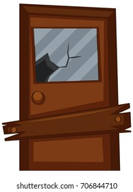 Old door with broken glass illustration  sc 1 st  Shutterstock & Broken Door Images Stock Photos u0026 Vectors | Shutterstock