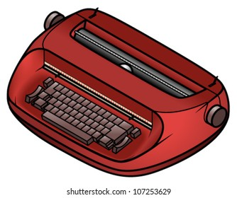 An old electric/electronic typewriter.