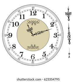 clock dial images stock photos vectors shutterstock