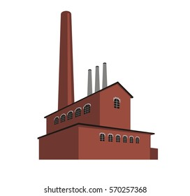 old factory, vector illustration