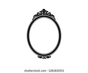 Mirror frame vector Pink Old Fashion Black Mirror Frame Vector Shutterstock Mirror Frame Images Stock Photos Vectors Shutterstock