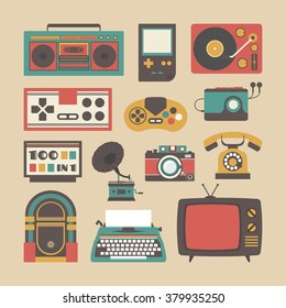 old fashion, entertainment gadget,retro style icon