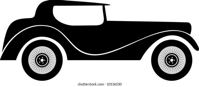 Old fashion sports car