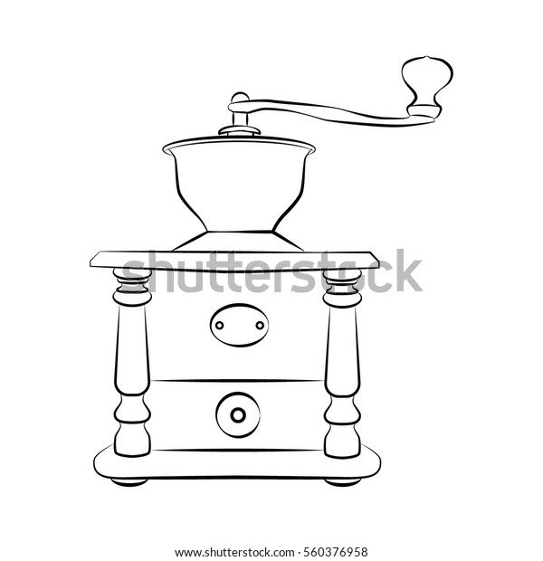 Closeup Old Coffee Grinder Stock Illustrations – 63 Closeup Old Coffee  Grinder Stock Illustrations, Vectors & Clipart - Dreamstime