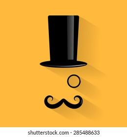 Old fashioned gentleman icon. Vector illustration.