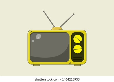 Old fashioned TV - flat design