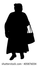 old fat turkish lady silhouette