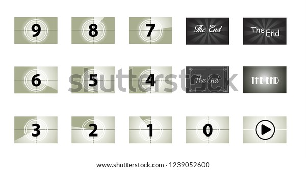 Old Filmstrip Vintage End Cinema Vector Stock Vector Royalty Free 1239052600
