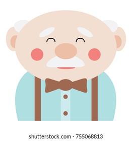 Old Grandpa Cartoon Face