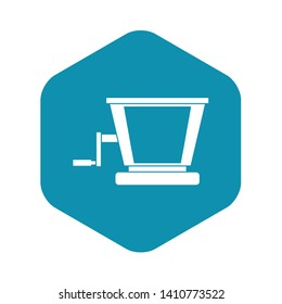 Old grape juicer icon. Simple illustration of old grape juicer vector icon for web
