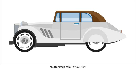 Old gray colored elegant car