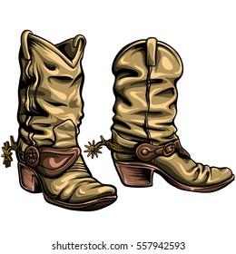 Old Gringo cowboy boots vector format.