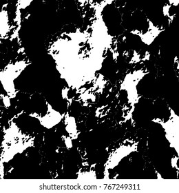 Old grunge background black and white vector. The texture of the ink spots