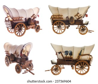 Old horse carriage vector
