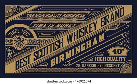 Old  label design for Whiskey