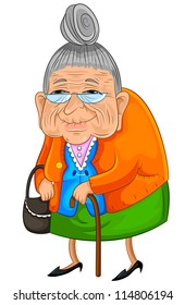 old lady cartoon images stock photos vectors shutterstock rh shutterstock com old lady birthday cartoon images sick old lady cartoon images