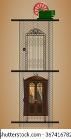 old lift, elevator