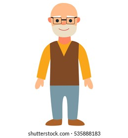 the old man . Vector Illustration
