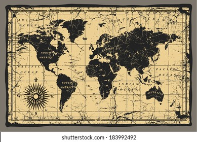 Old World Map Images Stock Photos Vectors Shutterstock