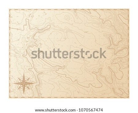 Old map isolated on