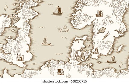 Old world map background stock vectors images vector art old map of the north sea britain and scandinavia vector illustration gumiabroncs Gallery