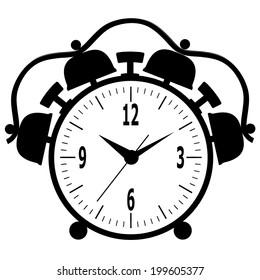 Old mechanical alarm clock.