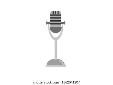 old metal microphone vector