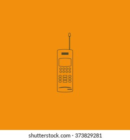 Old mobile phone illustration.