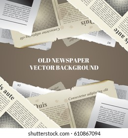 Old newspapers background. Vintage element for your design. Vector eps 10.
