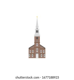 Old North Church in city of boston usa